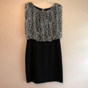 Aidan Mattox Black Blouson Spring Dress Size 12